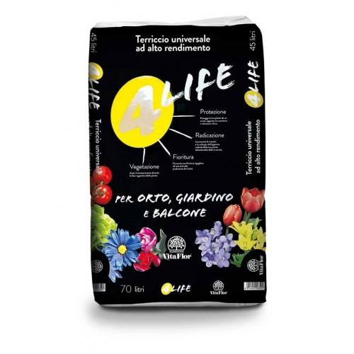 Terriccio per orto, giardino e balcone Vitaflor 4 Life 70 L