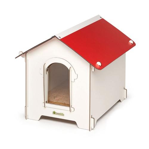 Cuccia per cani in HPL Cucciolotta Classic S rossa