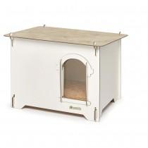 Cuccia per cani in HPL Cucciolotta Colonial L color legno