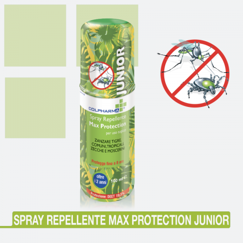 Spray antizanzare repellente antipuntura Colpharma Max Protection junior 100 ml