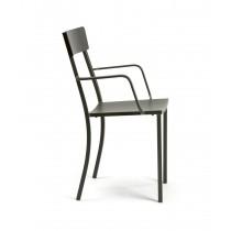Sedia in metallo Vermobil Mogan con braccioli color antracite PROMO x4