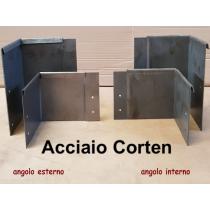 Picchetti angolari per bordure giardino in acciaio corten sp. 1 mm angolo esterno