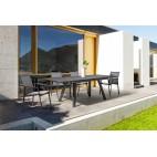 Tavolo in alluminio allungabile Bizzotto Klayton antracite 160-240x100 cm