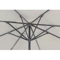 Ombrellone Bizzotto Alghero antracite-grigio 4 x 4 m 0795395