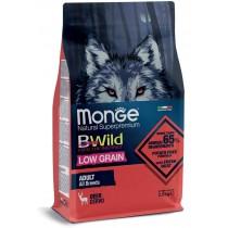 Crocchette per cani Monge all breeds adult low grain cervo 12 Kg