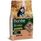 Crocchette per cani Monge grain free adult salmone e piselli 12 Kg
