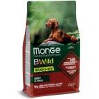 Crocchette per cani Monge grain free adult agnello e patate 12 Kg