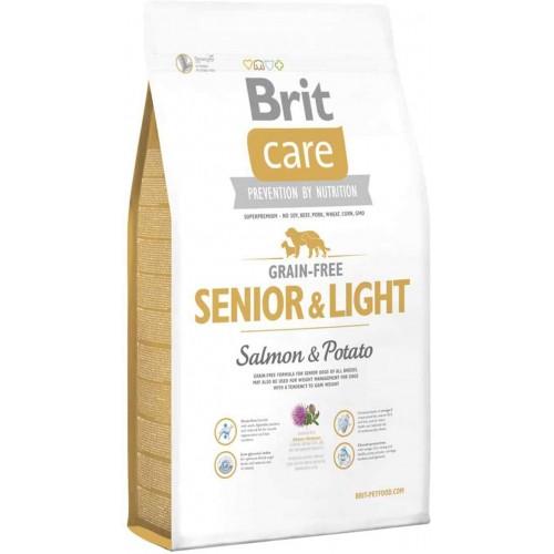 Crocchette per cani Brit care senior & light salmone e patate 12 Kg