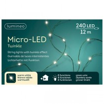Luci di Natale Kaemingk 240 micro LED cavo verde string twinkle 12 m