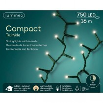 Luci di natale Kaemingk 750 LED bianco caldo compact twinkle 16 m