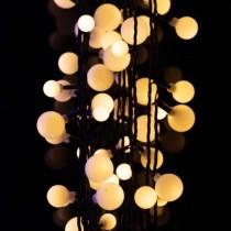 Luci di Natale Kaemingk 240 LED bianco caldo cherry 3 sizes 18 m