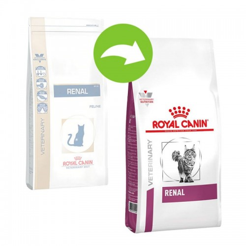 Crocchette per gatti Royal Canin veterinary diet Renal feline 2 Kg