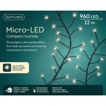 Luci di Natale Kaemingk 960 micro LED bianco caldo compact twinkle 12 m