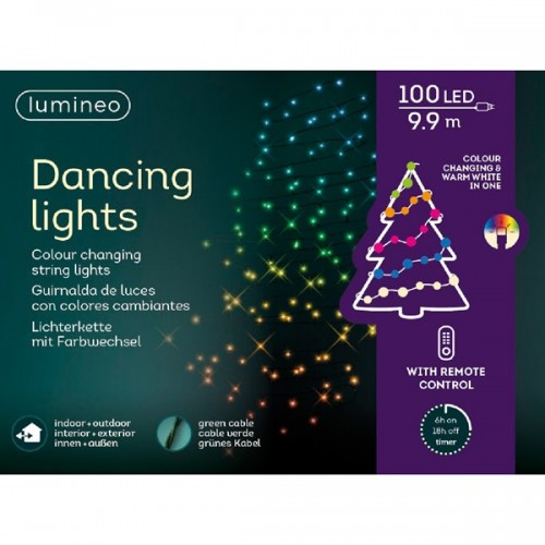 Luci di Natale Kaemingk 100 LED multicolore dancing lights 9.9 m