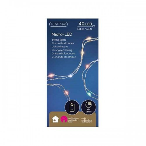 Luci di Natale Kaemingk 40 micro LED multicolor string l ind 1.95 m