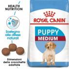 Crocchette per cani Royal Canin medium puppy 1 Kg