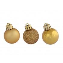 Palline di Natale Kaemingk 14 plain bauble oro
