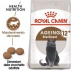 Crocchette per gatti Royal Canin feline sterilised ageing 12+ 2 Kg
