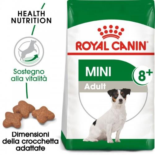 Crocchette per cani Royal Canin mini adult 8+ 2 Kg