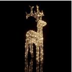 Renna Natale luminosa Kaemingk 80 LED bianco caldo