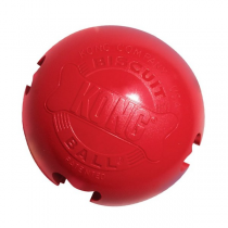 KONG Biscuit Ball - Gioco da lanciare e masticare in Gomma Naturale per Cani - 2 Taglie