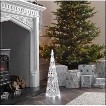 Albero di Natale led Kaemingk con luci bianco caldo 58 cm di altezza