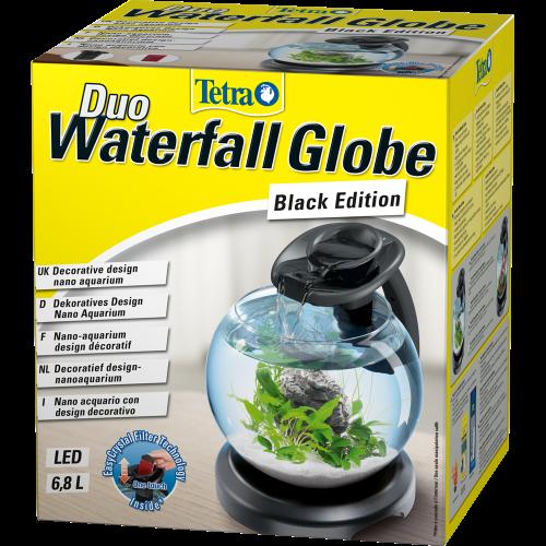Acquario rotondo effetto cascata Tetra Duo Waterfall Globe Black Edition 6,8 L