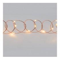 Luci di Natale Lotti 40 micro LED bianco caldo 4 m