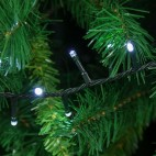 Luci di Natale Lotti 360 mini LED bianco freddo 25,7 m cavo verde