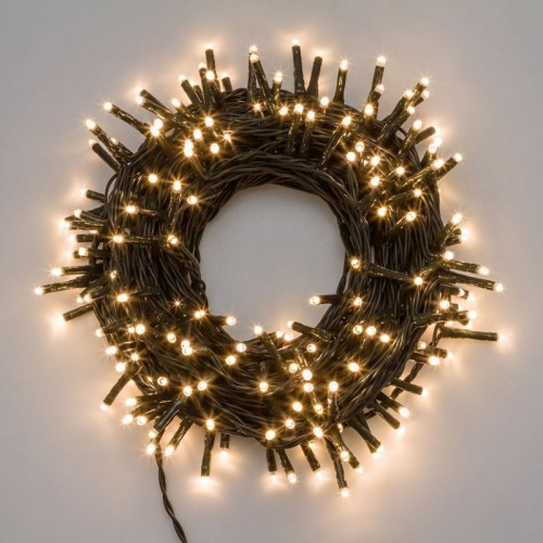 Luci di Natale Lotti 1000 mini LED bianco caldo 70.4 m