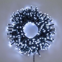 Luci di Natale Lotti 1000 mini LED bianco freddo 70.4 m cavo verde