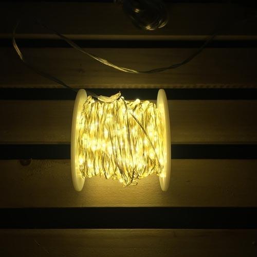 Luci di Natale 400 micro LED bianco caldo con cavo in rame 20 m