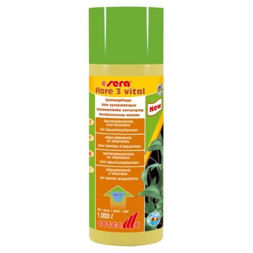 Fertilizzante per piante acquatiche SERA Flore 3 Vital 250 ml