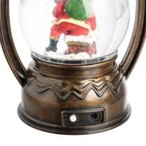 Lanterna di Natale Lotti effetto neve con LED bianco caldo