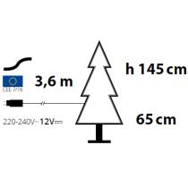 Albero di Natale legno Lotti abete con LED bianco caldo