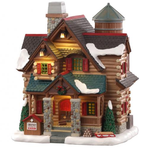 Lemax casa delle caldarroste Villaggio di Natale