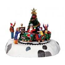 Lemax villaggio di Natale trenino con Babbo Natale