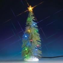 Albero di Natale abete con luci multicolore Lemax villaggio