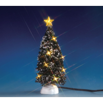 Albero di Natale con luci calde medio Lemax villaggio