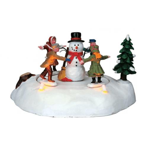 Lemax villaggio di Natale il girotondo con pupazzo di neve