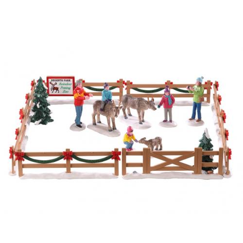 Lemax villaggio di Natale recinto con renne