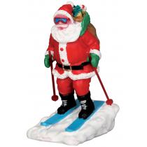 Lemax villaggio di Natale Babbo Natale sugli scii