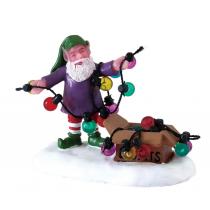 Lemax villaggio di Natale elfo con luci natalizie