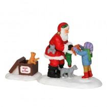 Lemax villaggio di Natale Babbo Natale e i bambini set 2 pezzi