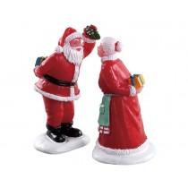 Lemax villaggio di Natale bacio sotto il vischio
