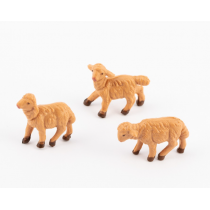 Pecore presepe set 3 pezzi 6.5 cm Fontanini