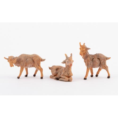 Animali presepe set 3 caprette Fontanini