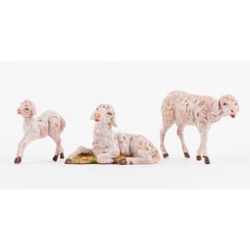 Pecore presepe set 3 pezzi 12 cm Fontanini