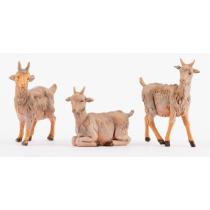 Animali presepe famiglia di caprette 12 cm Fontanini