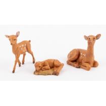 Animali presepe famiglia di daini 12 cm Fontanini